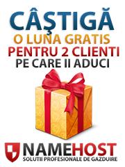 Castiga cu NameHost Romania - Oferta de toamna ! 2 Clienti + 1 Gratis !